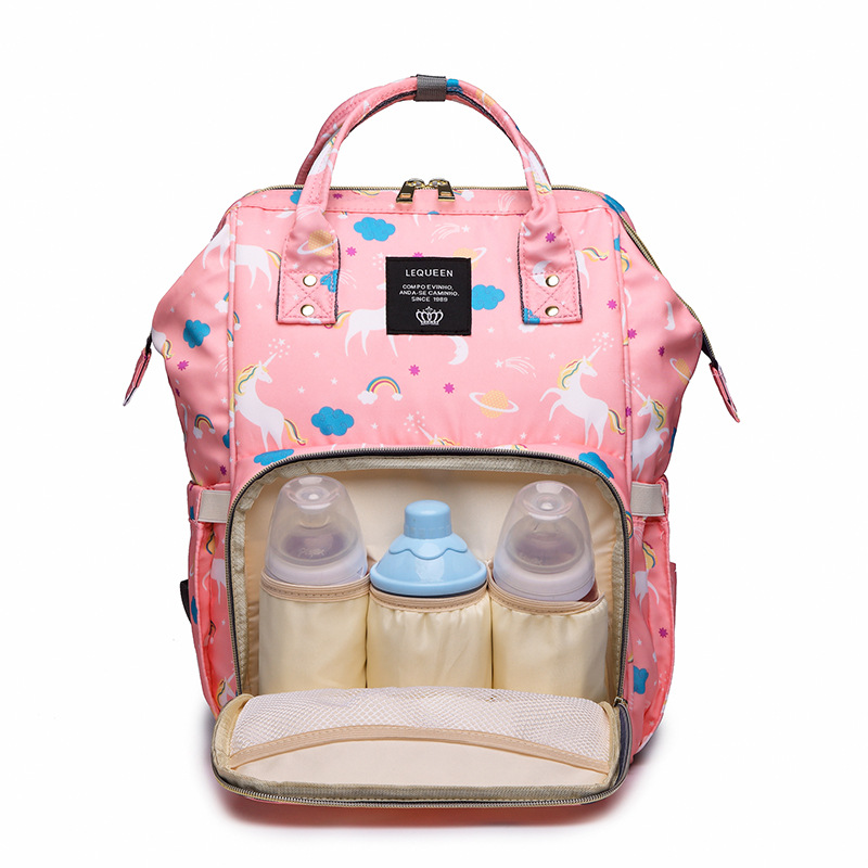 Lequeen Mommy Backpacks Nappies Bags Unicorn Diaper Bags Backpack Maternity Large Volume Outdoor Travel Bags Organizer LMPB28