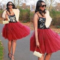 Custom Women Skirts Beautiful women's skirt tulle Bespoke Red Womens Tulle TuTu Skirt High Waist Girls Ladys Dance