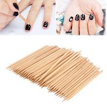 Распродажа 50 шт/100 шт двойные концевые палочки для кутикулы деревянная палочка для дизайна ногтей женский инструмент для удаления педикюра и маникюра