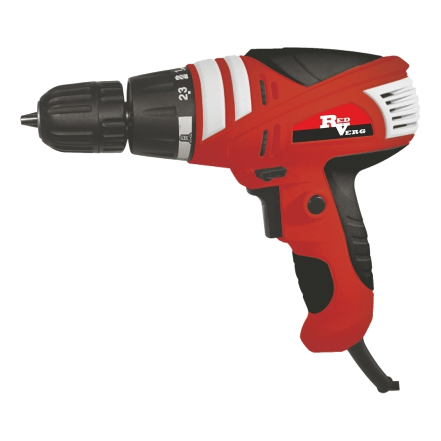 Drill electric screwdriver electric RedVerg RD-SD320/1 (Power 320 W, torque 15Нм, reverse) hammer drill electric redverg rd rh1500 power 1500 w drilling in concrete to 36mm антивибрационная system