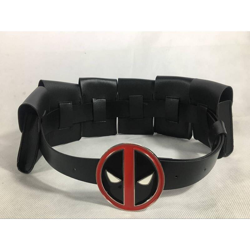 Halloween Deadpool Belt Deadpool Waist Bags Back Strap Deadpool Suit Belt Cosplay Costume Accessories Sword Holder Gun Holder