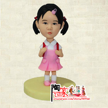 Brinquedos Meninas Diy Gift for Bithday Cake Topper wedding Toys Custom Polymer Clay Doll From Pictures for Kits Toy Pre-sale