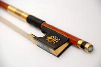 VIOLIN BOW Top Quality Pernambuco GENUINE Solid 7ct GOLD FP983B # Free Shipping by EMS