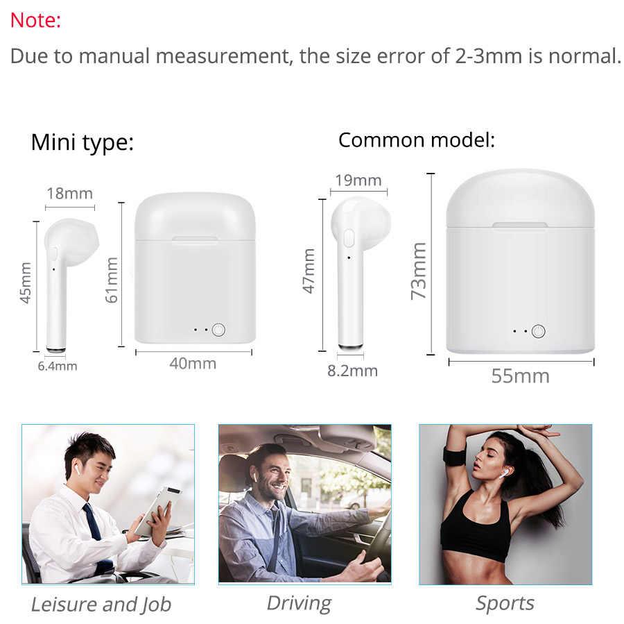 TWS Bluetooth наушники i7s Mini True беспроводные наушники-вкладыши наушники для iPhone Android с зарядным устройством