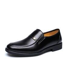 Neue Ankunft 2016 Männer Business Kleid Schuhe Herbst Leder Schuhe Oxford Schuhe Männer Slip On Herren Schuhe US6-10 # Schwarz Zapatos Hombre