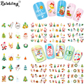 Rolabling Snowman & Tree Nail Christmas Style nail sticker water women nail art stickers water transfer for nail art