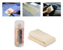 Cigall 1 Pza Toalla de gamuza para lavado de coches tela de gamuza sintética gamuza muebles de vidrio limpieza Cham paños secos con estuche de almacenamiento