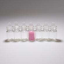 Mini bottle jar 1ml pendant glass with Plastic cap 11*22mm Cute  Wishing Small vial Home crafts 100pcs/lot