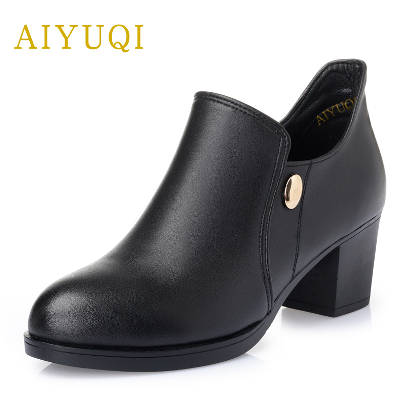 AIYUQI2018 spring genuine leather women shoes breathable lady shoes plus size 41#42#43# comfortable handmade mother shoes female aiyuqi 2018 spring new genuine leather women shoes shallow mouth casual shoes plus size 41 42 43 mother shoes female page 5