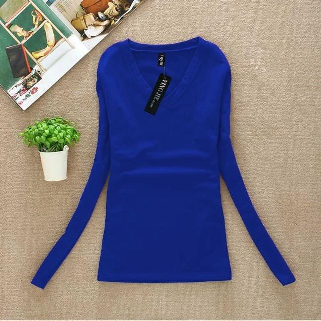 Plus Size Women Blouse New Fashion Spring 2017 Ladies Long Sleeve V-Neck Blouses Shirts Casual Clothing Tops Blusas Femininas