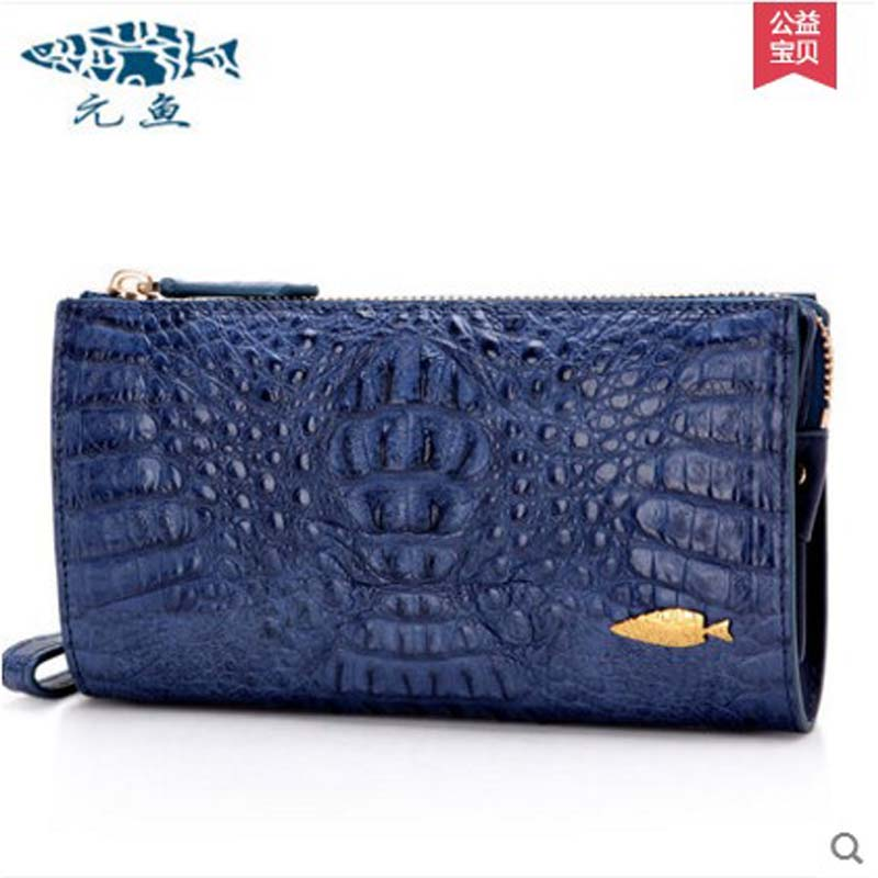 yuanyu  2018 new hot free shipping Crocodile skin women clutches imported  women bag  large capacity men women long clutches yuanyu 2018 new hot free shipping python leather women purse female long women clutches women wallet more screens women wallet