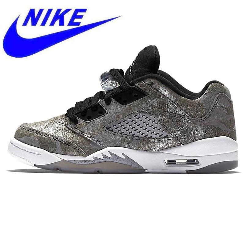Original Cushioning Shoes Nike Air Jordan 5 Low Premium GS AJ5 Joe 5  All-star Women s Basketball Shoes Sneakers 819951 003 60ba876bd