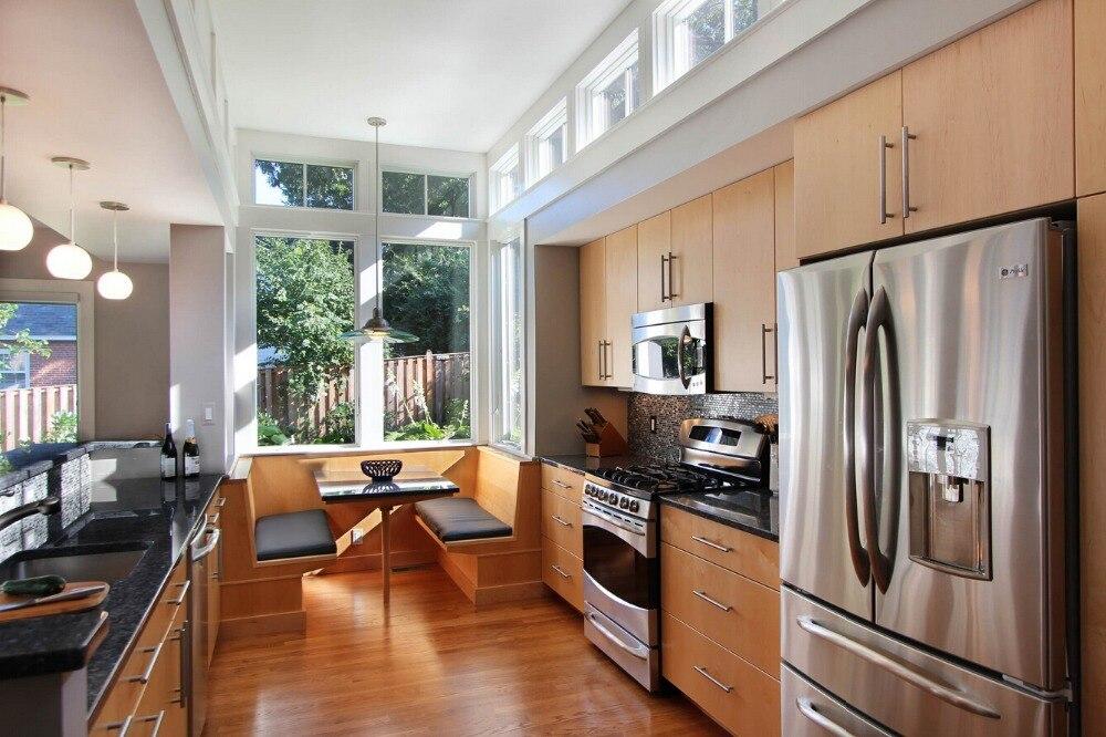 2019 nuevo de gabinetes de Cocina de madera maciza de descuento muebles de Cocina remodelación de la Cocina Armario de Cocina de gabinete de Laque Meubles
