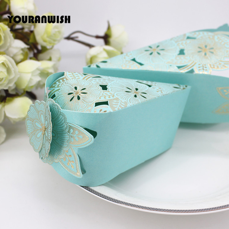 100Pcs/lot  Candy Boxes Romantic Wedding Decoration Wholesale Cake Shape Gift Box for Wedding Invitations and Favors