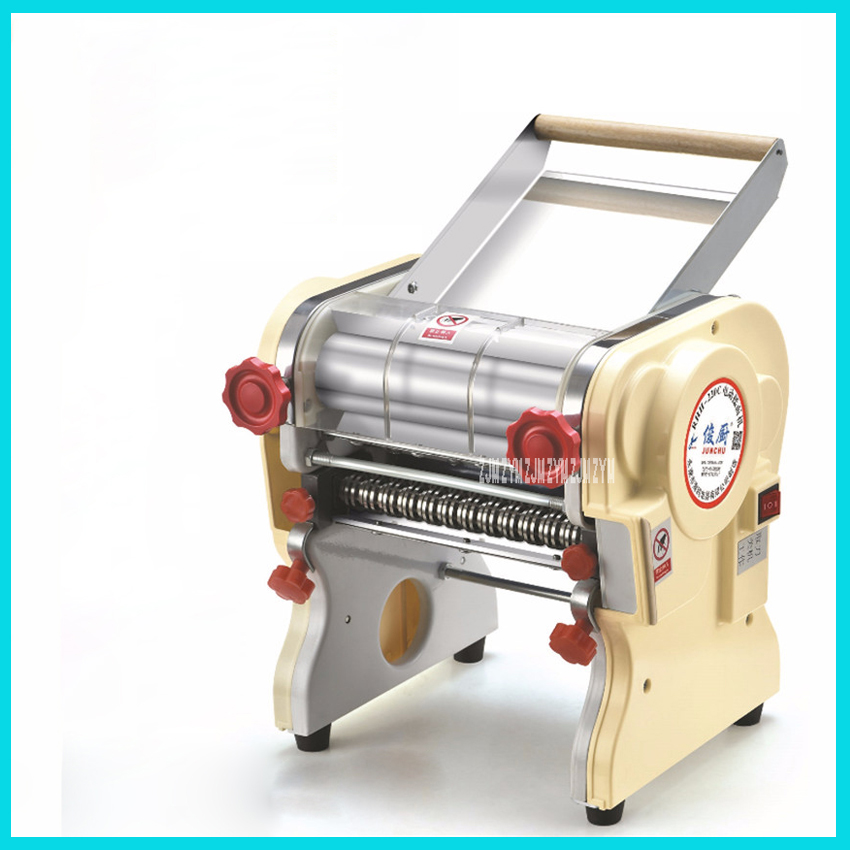DHH180 electric noodle machine 750W 110V/ 220V noodle maker household manual stainless steel semi-automatic noodle press jiqi household hand noddles pasta maker machine stainless steel manual noodle press making noodle cutting machine 0 5mm 2 5mm