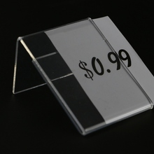 Sign-Rack Tag-Clip Label-Holder Showcase Display-Stand Picture-Frame Name-Card Price-Tag