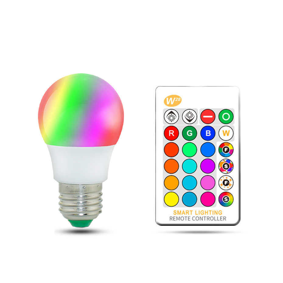 Magic RGB LED Light Bulb AC85-265V Smart Lighting Lamp Color Change Dimmable With IR Remote Controller 5W 10W 15W zigbee bridge led rgbw 5w gu10 spotlight color changing zigbee zll led bulb ac100 240v led app controller dimmable smart led