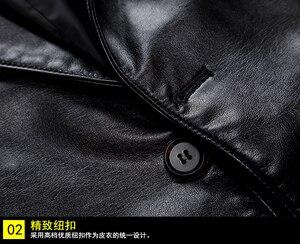 Image 3 - 10xl 8xl 6xl 5xl 4xl marca jaqueta de couro do plutônio dos homens outono inverno casual jaquetas sólidos roupas elásticas motocicleta outerwear