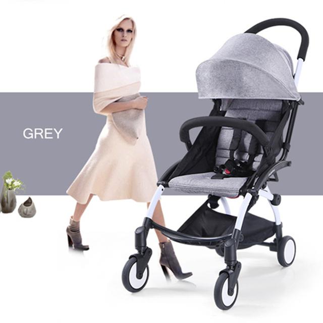 Venta caliente cochecito de bebé moda gris poussettes 3 en 1 poussette pliante silla portátil un carro de bebé cochecitos para bebés walker