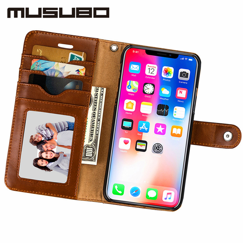 Musubo Luxury Flip Leather <font><b>Case</b></font> For iphone 8 Plus 7 Plus <font><b>Cases</b></font> 6s 6 5 5s SE Cover fit magnetic <font><b>car</b></font> holder for Galaxy S8Plus S8