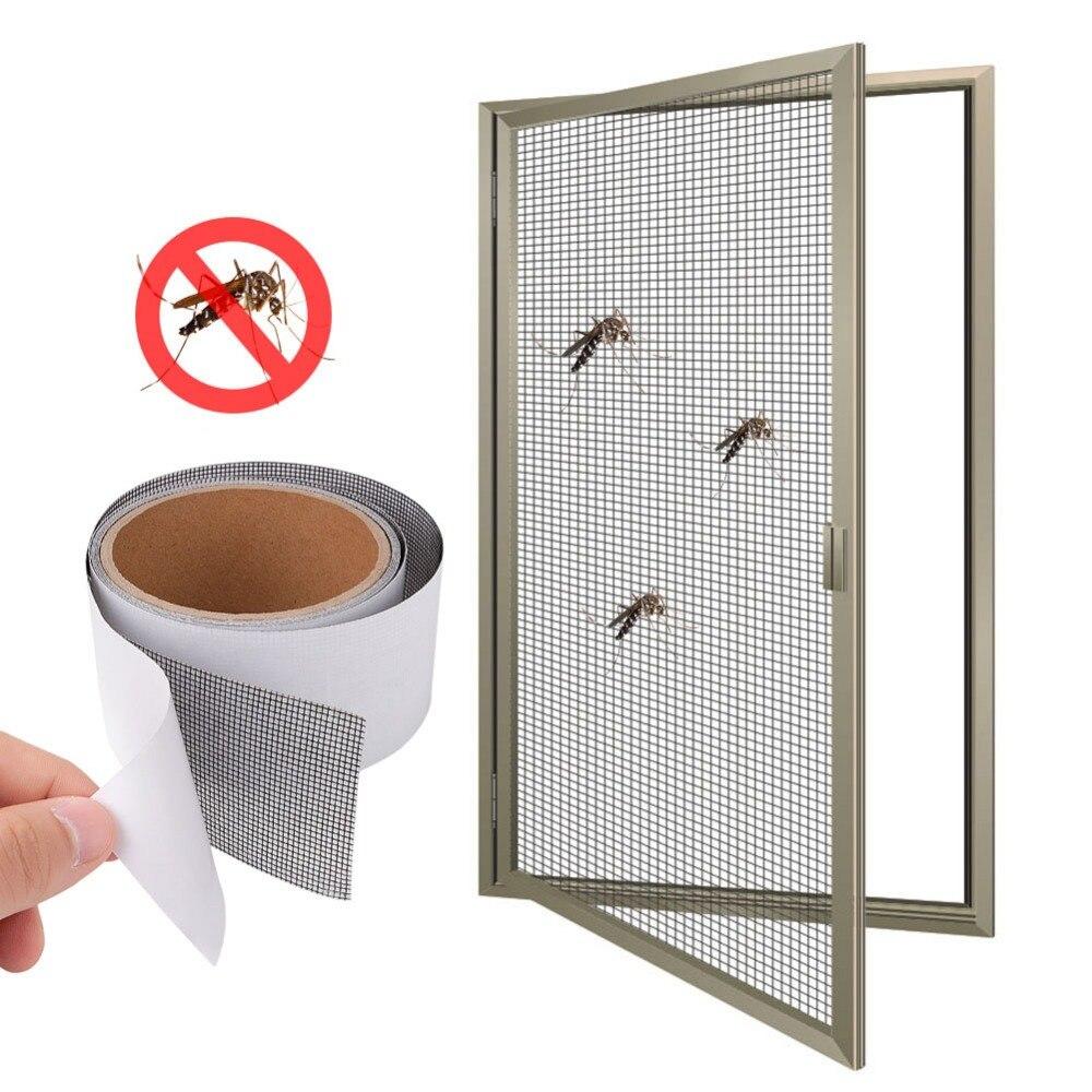 Anti-mosquito malla pegajosa cables Patch 5*200 cm cinta de reparación Pantalla de verano ventana puerta mosquitera parche reparación roto agujeros