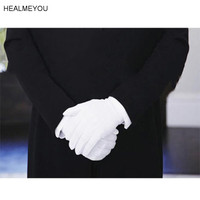 1Pair White Formal Gloves Tuxedo Honor Guard Parad ...