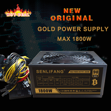 New and original Gold POWER 1800W BTC power supply for R9 380 RX 470 RX480 6 GPU CARDS 2 years warranty free shipping