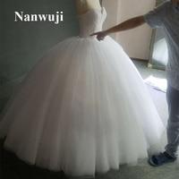 2017 Nanwuji Sweetheart beadings And Crystals Big Ball gown Full Ball Wedding Dress diameter 1.6 vestido de noiva