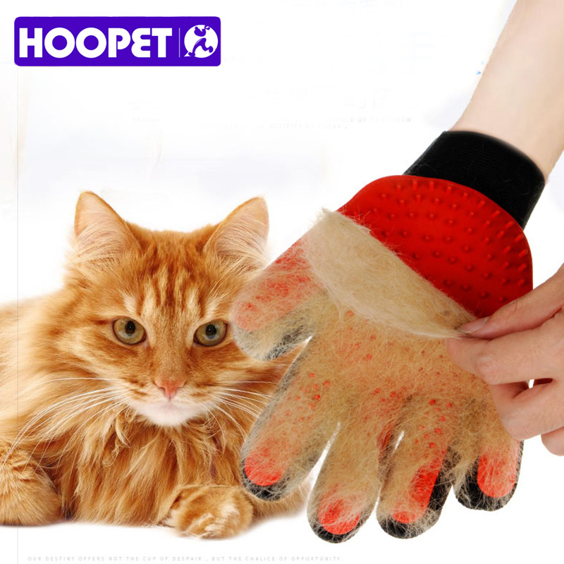 Hoopet Cat Gloves Hair Comb Pet Bath Brush Dog Massage Pet Grooming Cleaning Supplies