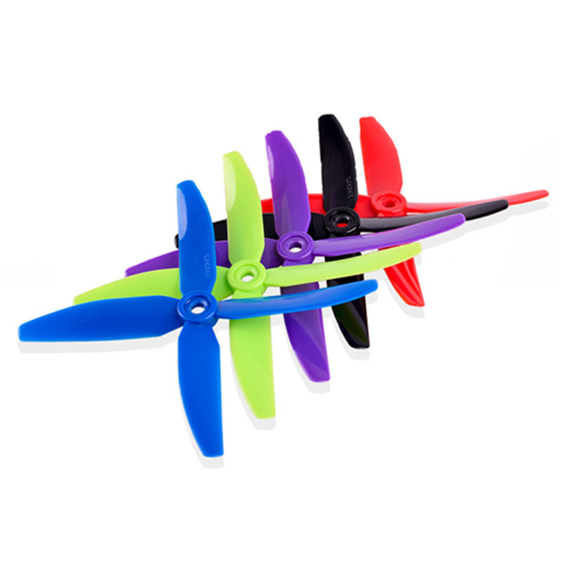 5 Pairs <font><b>5040</b></font> <font><b>4</b></font> <font><b>Blade</b></font> Propeller 5.0mm Mounting Hole For RC Drone FPV Racing Multi Rotor Models Spare Part Blue Purple Green image