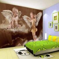 Beibehang Grandi murales carta da parati personalizzata angel baby bambini camera da letto sfondo muro papel de parede 3d