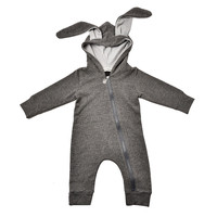 Newborn Infant Baby Girl Boy Clothes Cute 3D Bunny Ear Romper Jumpsuit Playsuit 2017 Autumn Winter