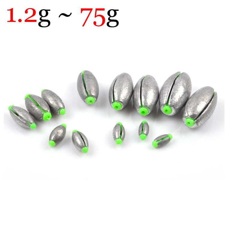 New All Sizes Weight Adjustable Lead Weight Sinkers for Fishing 1.2g to 75g Popular Fishing Accessories