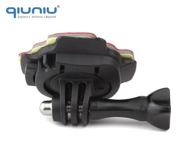 QIUNIU 360 Degrees Rotation Helmet Extension Arm with Adhesive Sticker