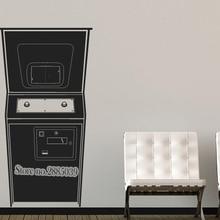 Nuevas pegatinas de la vieja escuela juego de Arcade Estilo Vintage calcomanía de vinilo para pared sofá Fondo decoración de habitaciones arte Mural LA404