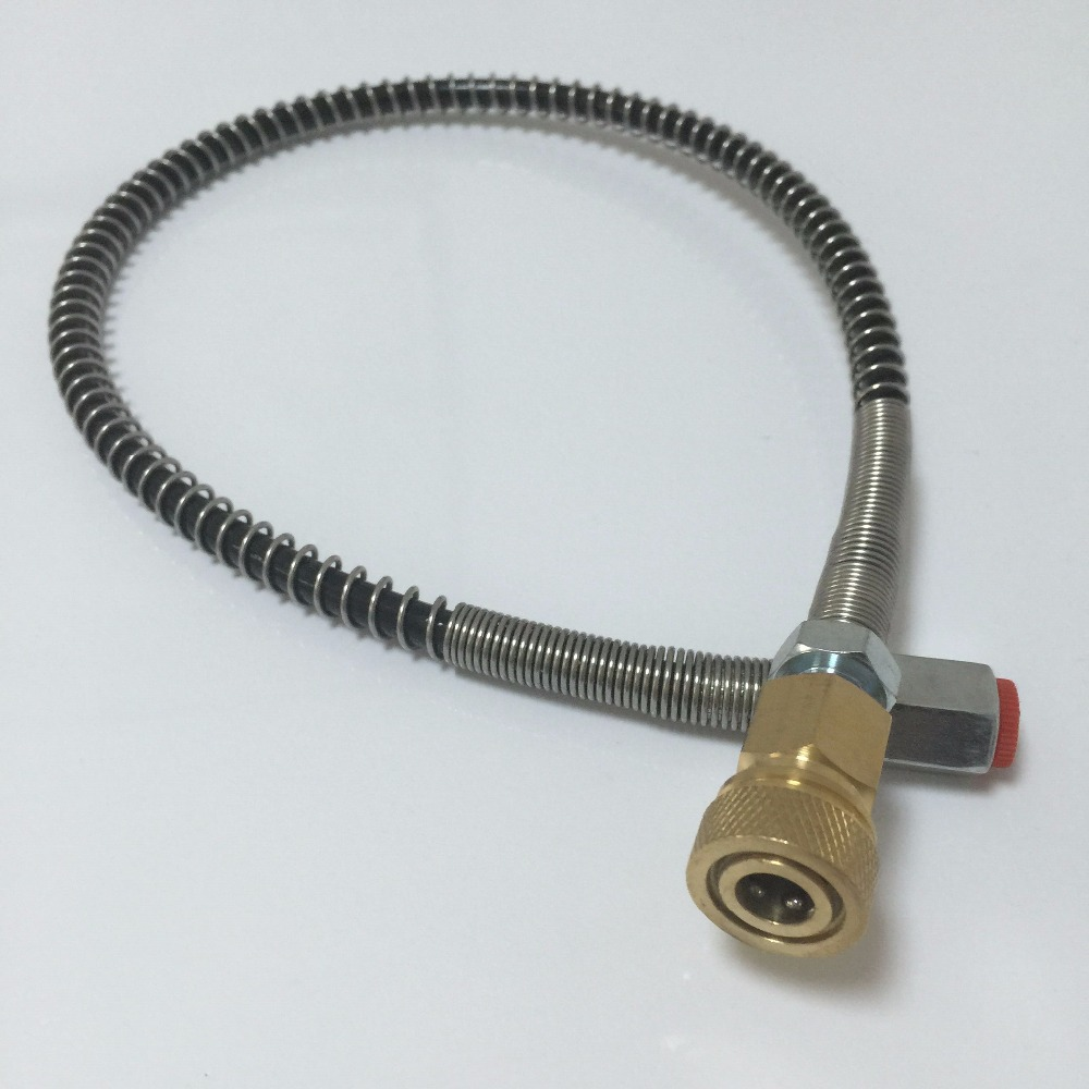 AC89 1pcs 300bar Working Pressure 0.5m Length Fii Station For Connect Inflate Paintball Tank Pcp Air Gun Tank Drop Shipping Acec