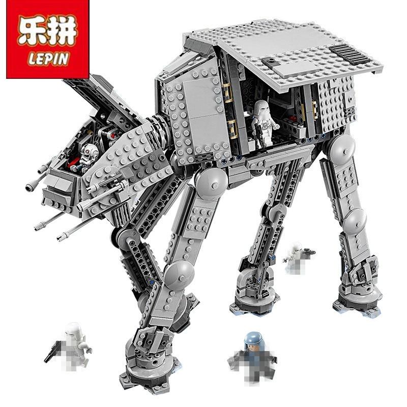 Lepin 05051 05130 05050 StarWar Force Awaken The AT-AT Transportation Armored Robot Educational Building Blocks Bricks 75054