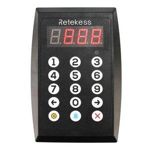 Image 2 - Система вызова номера Retekess TD101, беспроводной пейджер для ресторана, система управления очередкой, громкий динамик, 3 значный дисплей для бизнеса