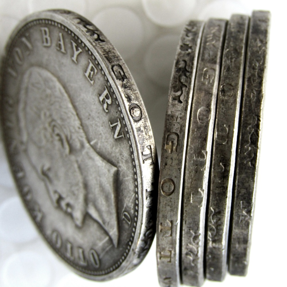 Germany German Bavaria Coin 5 Mark Silver 1907d Otto Copy Coins