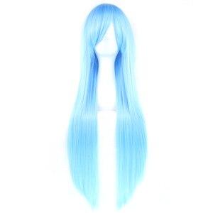 Soowee 24 цвета длинные прямые парики синие белые праздничные аксессуары для волос термостойкие синтетические волосы косплей парик для женщин
