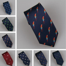 LAMMULIN Галстуки 7 видов стилей мужской костюм рисунок птицы Попугай Стрекоза Павлин Орел жаккардовый галстук узкий галстук 7 см синий, темно-красный