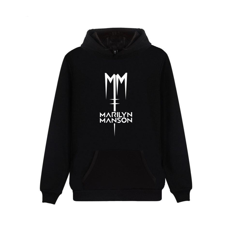 Top Rock band Marilyn Manson Hoodies Men/Women Industrial Metal Rock Band Hoodie Sweatshirt Long Sleeve Hip Hop Jacket Coat
