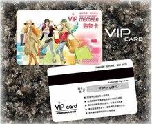 1000 adet özel plastik VIP kartları/Hico + kodlama üyelik kartı/hediye indirim kartları baskı hizmeti sadakat kartı