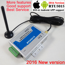 Free shipping with Post mail RTU5015 GSM Gate Door Opener Operator with SMS Remote Control Alarm 1 Output/2 Inputs app support