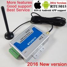 Бесплатная доставка с почтой RTU5015 GSM Gate Открывания Двери Оператор с SMS Дистанционного Управления Сигнализации 1 Выход/2 входы