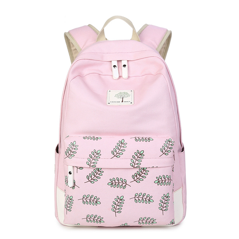 Ladies Stylish Backpack Rucksack Bags School Student College Bags With Bag Charm