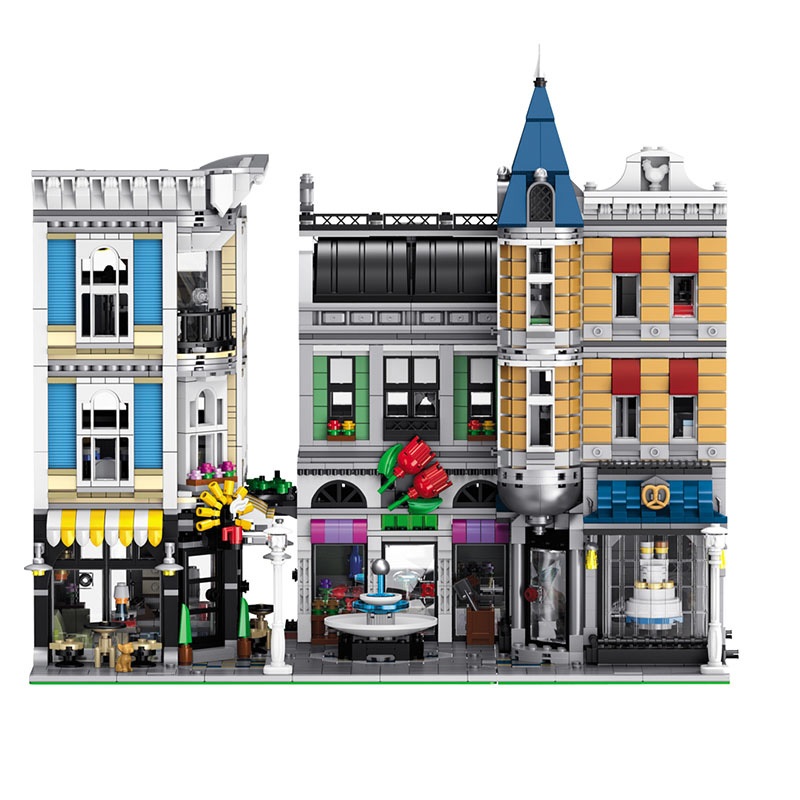 Assembly Square City Series Compatible LegoINGlys Architecture House Large Building Blocks Ultimate Toy for Children 4002 Pcs 4695pcs lepin 16001 city series firehouse headquarters house model building blocks compatible 75827 architecture toy to children