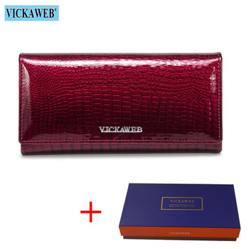 Alligator Patent Leather Women's Wallet Bags and Wallets New Arrivals Women's Wallets Color: Jujube Red and Box Ships From: Russian Federation