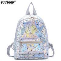 2019 Small Women's Bag New Female Holographic Laser Backpack Feminina Schoolbags Fashion Female Mini Travel School Bag Packs