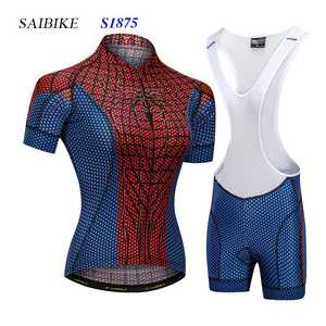 saiBike Super Hero cycling jersey sets summer short sleeves bike bicycle  tops wear b85506c37